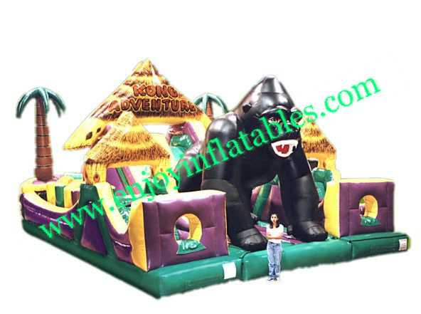 YF-kong adventure inflatable playground-31