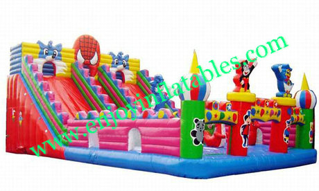 YF-spiderman inflatable playground slide-29