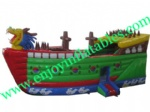 YF-inflatable pirate ship bouncer-101