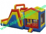 YF-inflatable castle slide combo-114