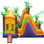 YF-inflatable castle slide combo-115