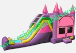 YF-inflatable castle slide combo-123