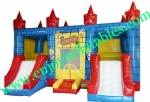 YF-inflatable castle slide combo-127
