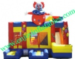 YF-inflatable castle slide combo-128