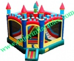 YF-inflatable castle slide combo-131